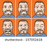 vector illustration of bearded...