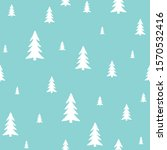 white forest on a blue... | Shutterstock .eps vector #1570532416