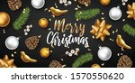 merry christmas and happy new... | Shutterstock .eps vector #1570550620