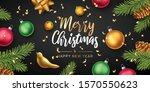 merry christmas and happy new... | Shutterstock .eps vector #1570550623