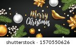 merry christmas and happy new... | Shutterstock .eps vector #1570550626