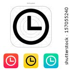 time and clock icon. vector...