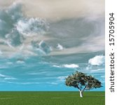 alone tree and beautiful sky... | Shutterstock . vector #15705904