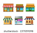 shops collection   Shutterstock .eps vector #157059398