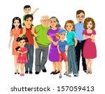 big happy family | Shutterstock .eps vector #157059413