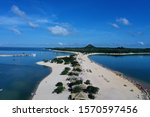 Small photo of aerial image of Amor beach located in the municipality of Alter do Chao state of Para in the Brazilian Amazon region