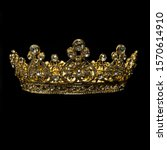 A Gold And Diamond Royal Crown...