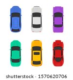vector car top view icon... | Shutterstock .eps vector #1570620706