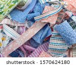 Close Up View Of Scraps Of...