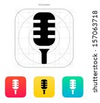 studio microphone icon. vector...