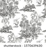 seamless pattern hand drawn... | Shutterstock .eps vector #1570639630