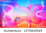 abstract fluid color pattern of ... | Shutterstock .eps vector #1570643569