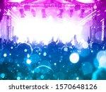 concert stage inside a big...   Shutterstock . vector #1570648126