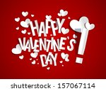 happy valentine's day card... | Shutterstock .eps vector #157067114
