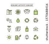 ecology activity line icon set | Shutterstock .eps vector #1570688416