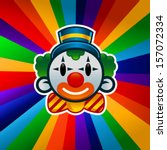 colorful clown isolated on... | Shutterstock .eps vector #157072334