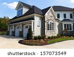large suburban house exterior... | Shutterstock . vector #157073549