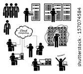 it engineer technician admin... | Shutterstock . vector #157074584