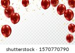 red balloons  confetti gold... | Shutterstock .eps vector #1570770790
