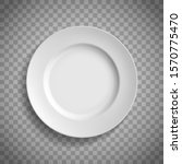 white empty ceramic plate. top...   Shutterstock .eps vector #1570775470