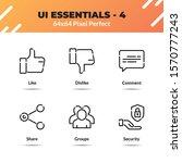 ui essentials line icon set...