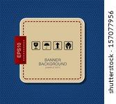 banner label background on blue ... | Shutterstock .eps vector #157077956