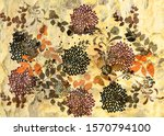 brush painted colorful floral...   Shutterstock . vector #1570794100