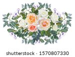 rose with leaves  bouquet... | Shutterstock .eps vector #1570807330