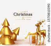 merry christmas and happy new... | Shutterstock .eps vector #1570810390