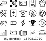 graph vector icon set such as ...