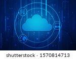 2d illustration of cloud... | Shutterstock . vector #1570814713