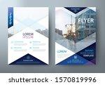 blue flyer design  leaflet...   Shutterstock .eps vector #1570819996