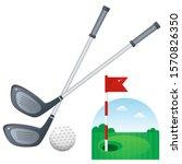 Golf Set. Color Image Of...