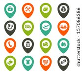 map icons set   Shutterstock .eps vector #157086386
