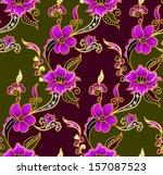 seamless  batik background... | Shutterstock .eps vector #157087523