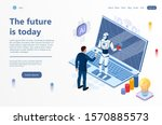 artificial intelligence... | Shutterstock .eps vector #1570885573