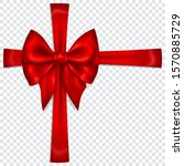 beautiful red bow with... | Shutterstock .eps vector #1570885729