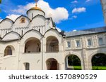 Intercession cathedral of Intercession (Pokrovsky) convent in Suzdal, Russia. Golden ring of Russia