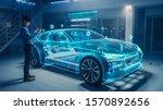 automotive engineer uses...