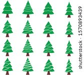 design vector christmas tree... | Shutterstock .eps vector #1570893439