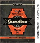 vintage gasoline motor oil...   Shutterstock .eps vector #157091378