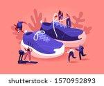 people wearing sneakers concept....   Shutterstock .eps vector #1570952893