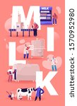 milk production manufacturing...   Shutterstock .eps vector #1570952980