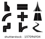 roads vector set | Shutterstock .eps vector #157096934