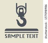 crane hook icon or sign  vector ...   Shutterstock .eps vector #157098986