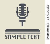 retro microphone icon or sign ... | Shutterstock .eps vector #157100669
