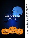 vector halloween party... | Shutterstock .eps vector #157100690
