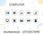 computer trendy infographic...