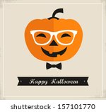 happy hipster halloween | Shutterstock .eps vector #157101770