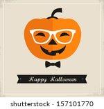happy hipster halloween | Shutterstock .eps vector #157101770